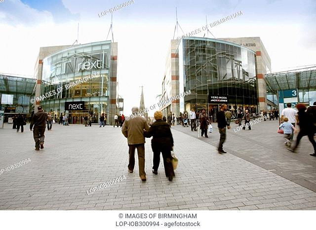 England, West Midlands, Birmingham, The New Birmingham Bull Ring Shopping Centre, the largest retail regeneration project in Europe and the UK's third most...
