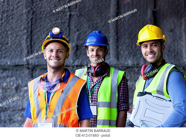 Workers smiling on site