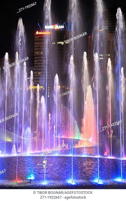 Malaysia, Kuala Lumpur, City Centre, fountain