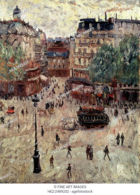 'A Square in Paris', 1907. Found in the collection of the State A Pushkin Museum of Fine Arts, Moscow