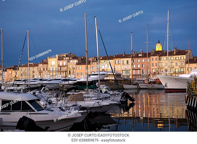 Harbor and village of Saint Tropez, French Riviera