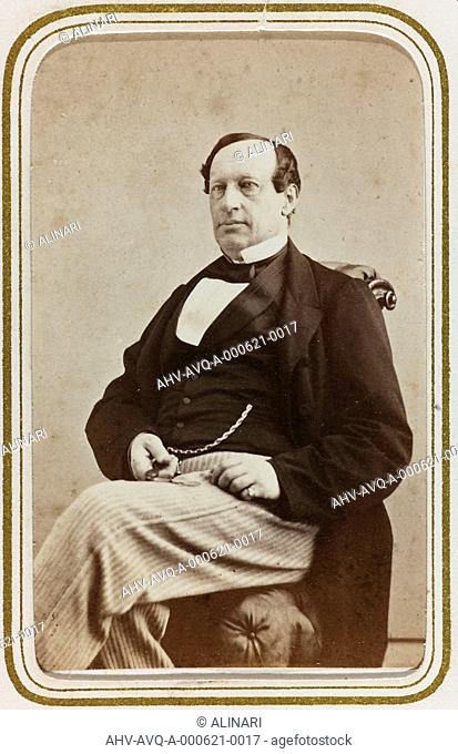 Portrait of the Swedish politician and trader William Magnus Ekelund (1808-1889), carte de visite, shot 1860-1870
