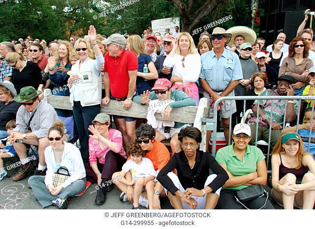 King Mango Strut 'weirdest parade in the world'. Coconut Grove. Florida. USA