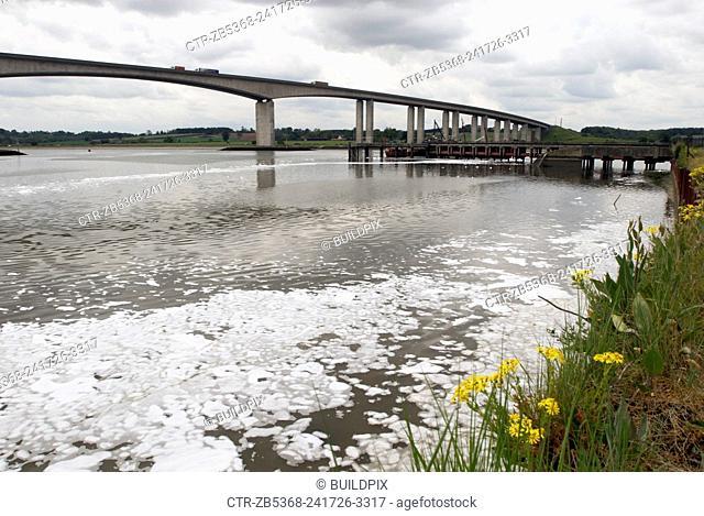 Orwell Bridge, Ipswich, Suffolk, UK