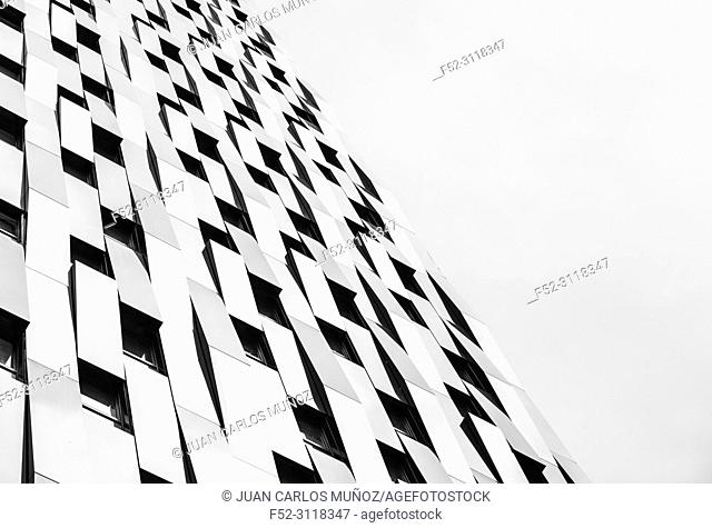 BILBAO PASSIVHAUS TOWER, The highest passive residential building in the world, Bolueta, Bilbao, Bizkaia, Basque Country, Spain, Europe