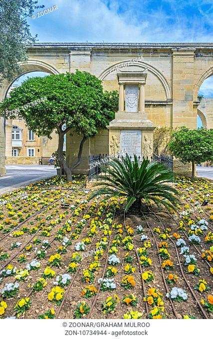 Memoriam In Upper Barrakka Garden, Valletta, Malta