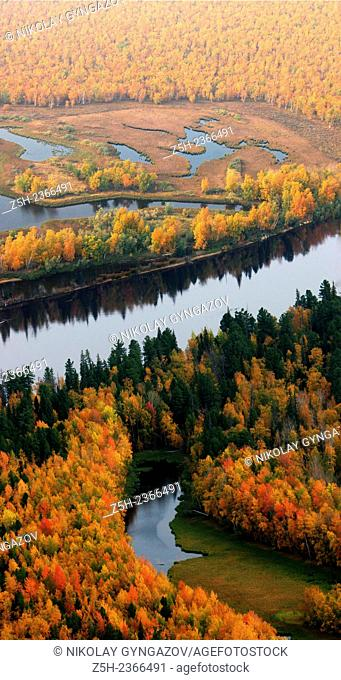 Autumn in Siberia. Top view