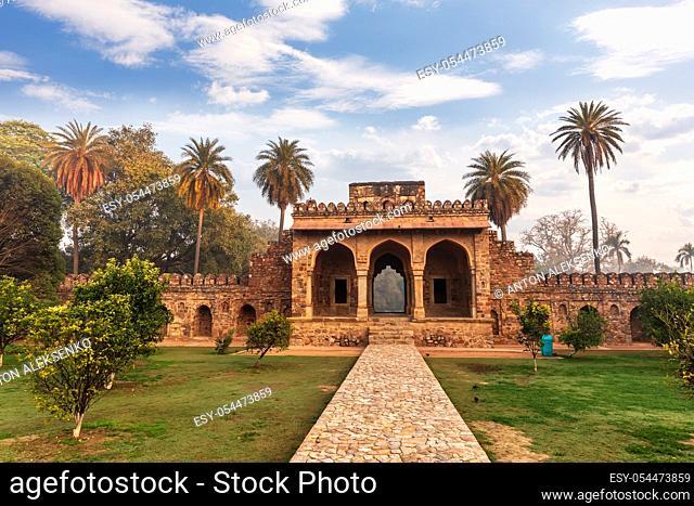 Humayun's Tomb Gates, scenery of India, New Delhi