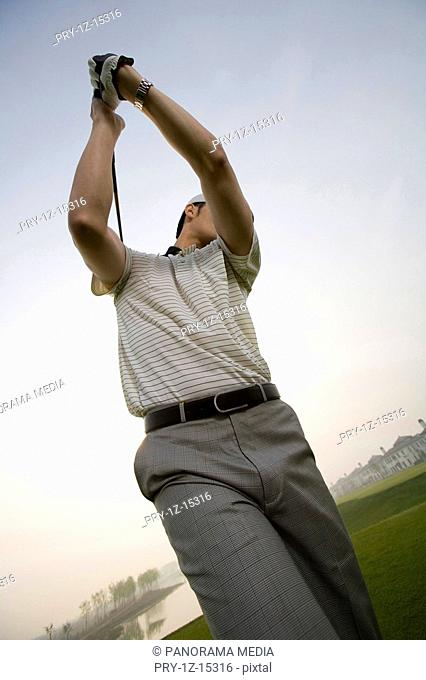 a male golfer