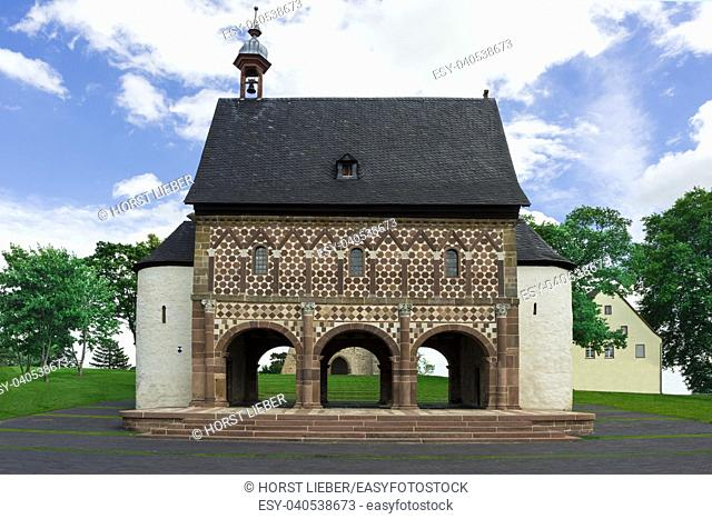 View of the King Hall in Lorsch, Hesse, Germany, Europe