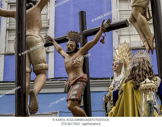Traditional Easter Holy Week Procession in San Cristobal de la Laguna, Tenerife Island, Canary Islands, Spain