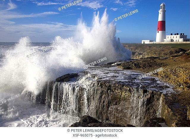 Storm at Portland Bill Dorset