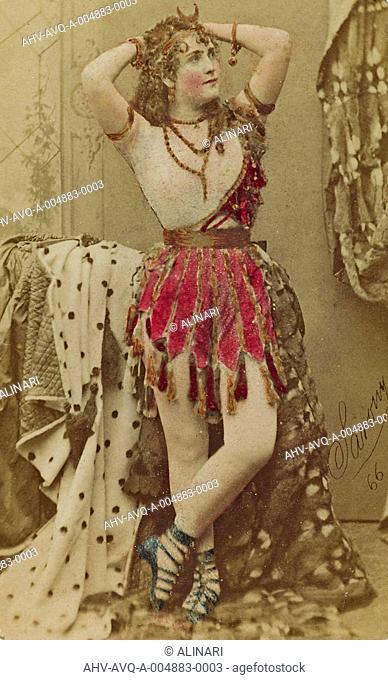 The actress Adah Bertha Theodore Menken plays the melodrama Mazeppa, shot 1864-1866 by Sarony