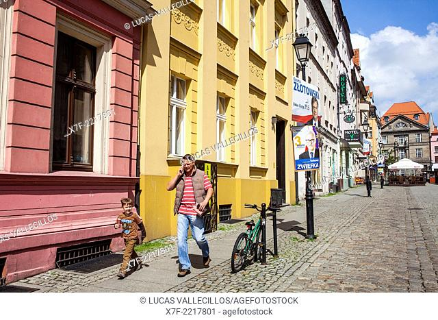 Mostowa street,Torun, Poland