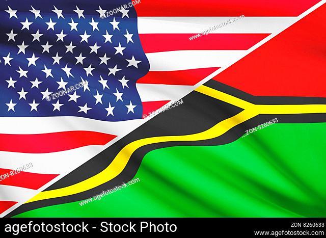 USA and Ni-Vanuatu flag. Part of a series