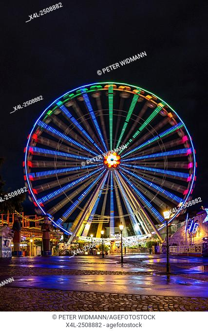 Blumenrad, Ferris wheel in the Prater, amusement park, Prater, Vienna, Austria, Europe