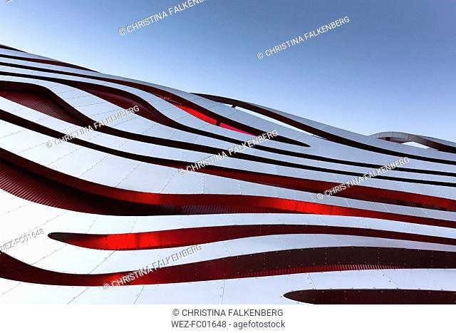 USA, Los Angeles, part of facade of Petersen Automotive Museum