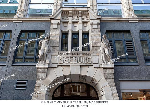 Portal Kontor building Seeburg, entrance portal, Spitalerstraße, Hamburg, Germany