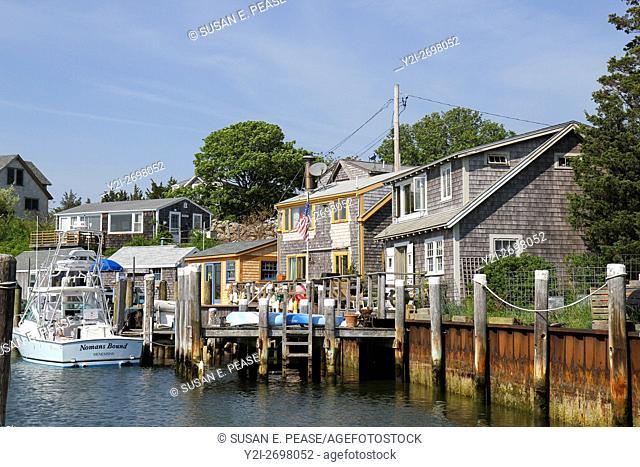 On the water in the fishing village of Menemsha, Chilmark, Martha's Vineyard, Massachusetts, United States, North America
