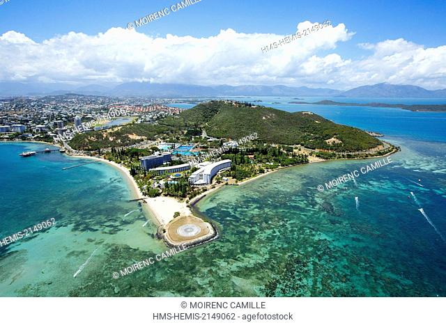France, New Caledonia, Grande-Terre, Southern Province, Noumea, advanced Magnin (aerial view)