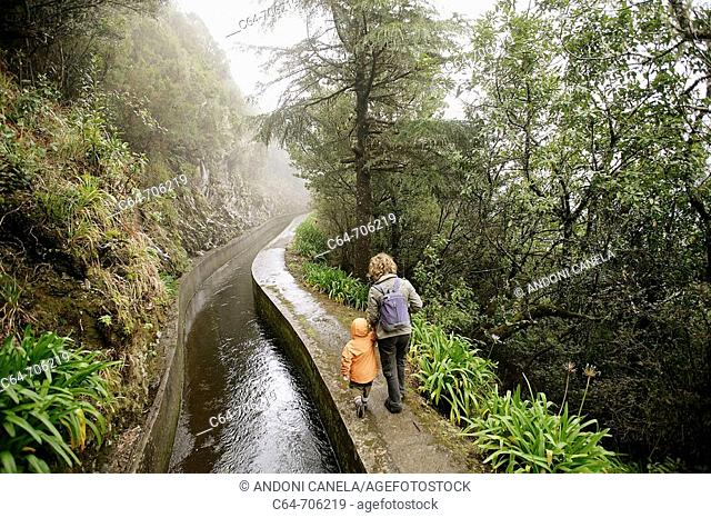'Levada' walk. Madeira. Portugal
