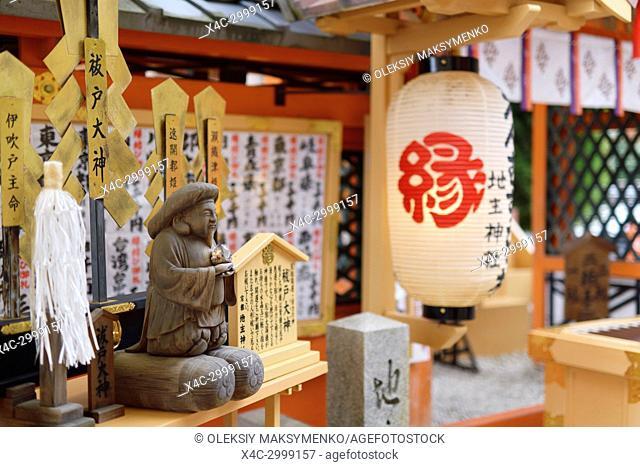 Purifying altar of Exodus Ogami side Shinto shrine at Jishu-Jinja shrine of Kiyomizu-dera Buddhist temple in Higashiyama, Kyoto, Japan