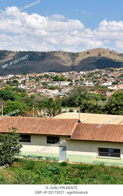 Panoramic view of the city from the campus farm of the Federal Institute of Science and Technology Education of Southern Minas Gerais and is part of the Path of...