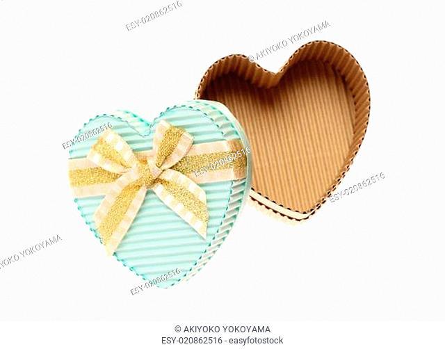 heart shaped empty cardboard box