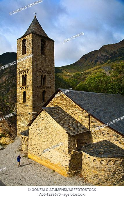 Sant Joan de Boí Romanesque church  Boí Valley, Alta Ribagorça, Pyrenees Mountains  Lleida province  Catalunya  Spain