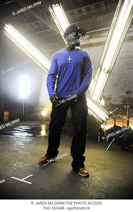 """50 Cent on-set at the Jeremih featuring 50 Cent Music Video for """"""""Down On Me"""""""" directed by Colin Tiley on November 17, 2010"""