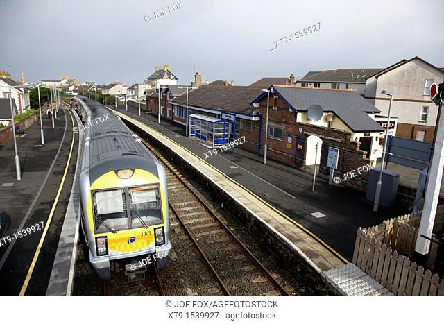 northern ireland railways passenger train at castlerock railway station northern ireland uk