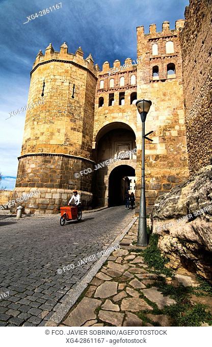 Puerta de San Andrés, también llamada Puerta de la Judería - Segovia - Castilla-León - España - Europa