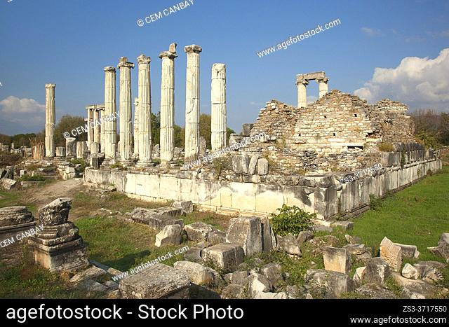 View to the Temple Of Aphrodite at Aphrodisias Archaeological Site, Geyre, Aydin Province, Asia Minor, Turkey, Europe