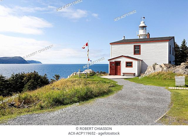 Lobster Cove Head Lighthouse and lighthouse keeper's home overlooking the Gulf of St. Lawrence. The lighthouse keeper's home currently serves as a Parks Canada...
