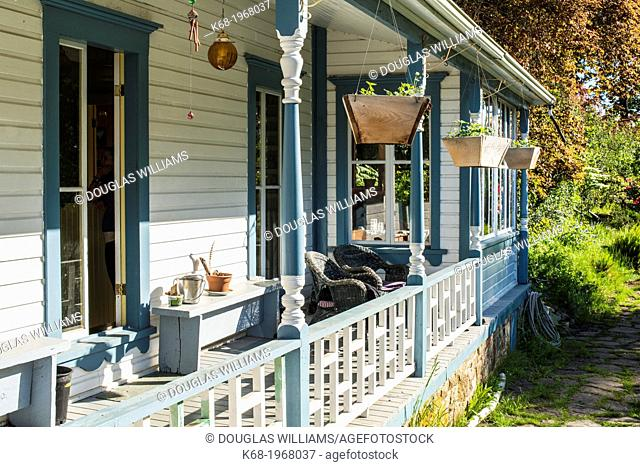 Breezy Bay Bed and Breakfast, a house built in 1892, on Saturna Island, Gulf Islands, BC, Canada