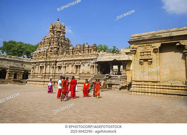 Outer view of Brihadisvara Temple, a Hindu temple dedicated to Shiva. Gangaikonda Cholapuram, Ariyalur district, Tamil Nadu, India