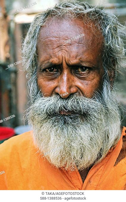 Man on the street near the Ganges river