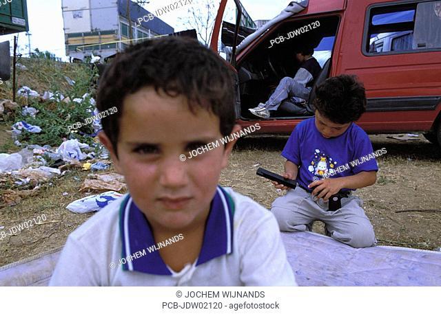 Jerez de la Frontera, gypsy children at the Feria del caballo