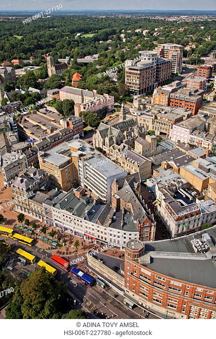 United Kingdom. England. Dorset. Bournemouth. City centre. Aerial view