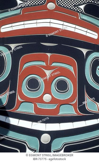 Indian carving, Washington, USA
