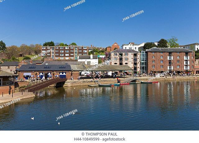 England, Europe, Exeter, Devon, quayside, UK, United Kingdom, Great Britain, Europe, EU, European, travel, holiday, va