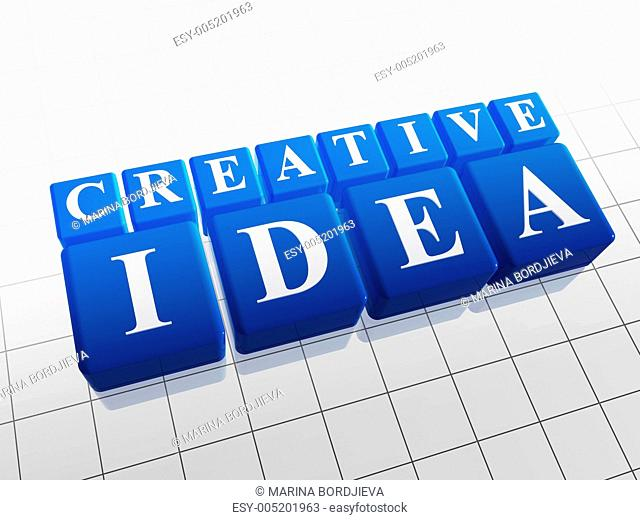 creative idea in blue cubes