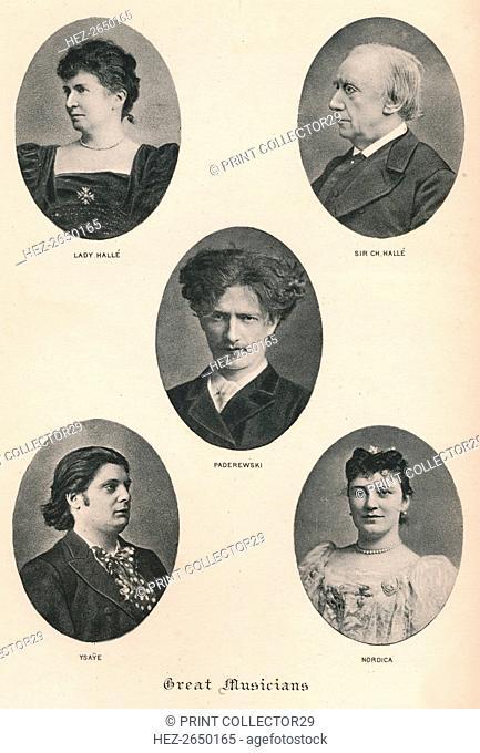 'Great Musicians - Plate X.', c1880, (1895). Artist: F Jenkins Heliog
