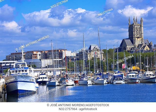 Normandy, Fecamp, Harbour, Seine-Maritime department, Pays de Caux, Cote d'Albatre, Alabaster Coast, Upper Normandy, France