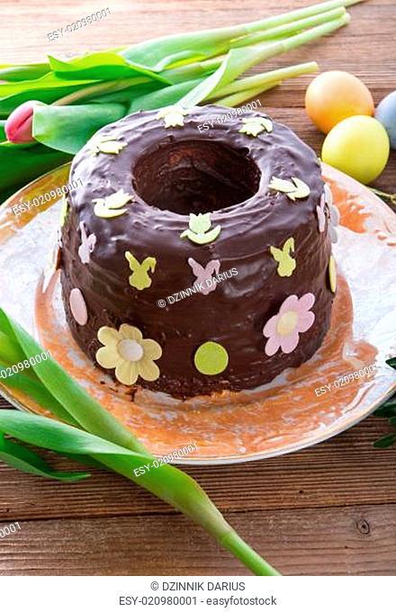 the cooked Babka (cake)