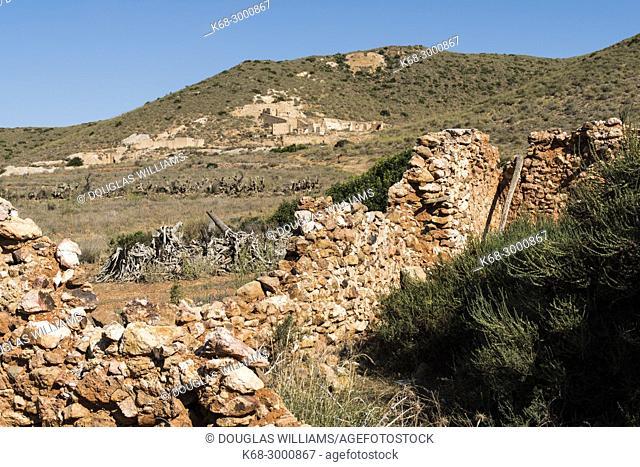 Rodalquilar, abandoned gold mine, Cabo de Gata, Almeria, Spain
