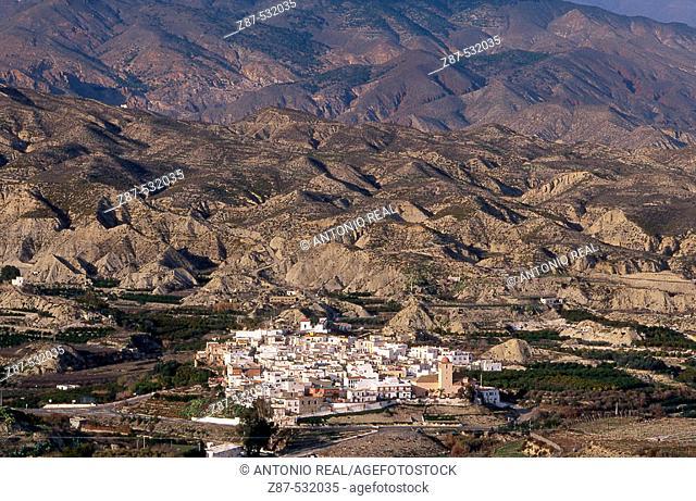 Bentarique. Andarax river valley, Almería province. Andalusia, Spain
