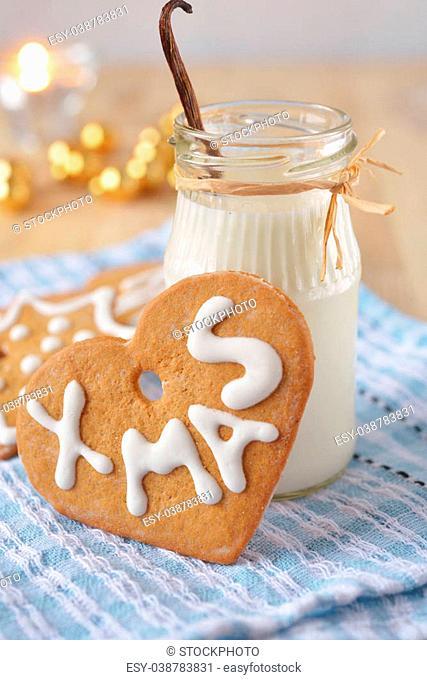 Christmas gingerbread and milk for Santa
