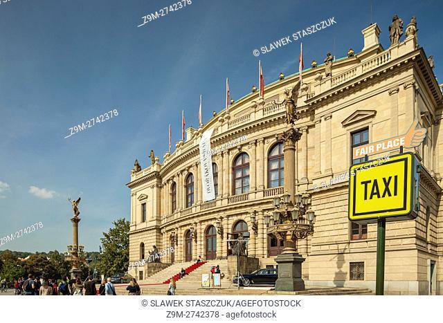 National Theatre in Prague old town, Czech Republic