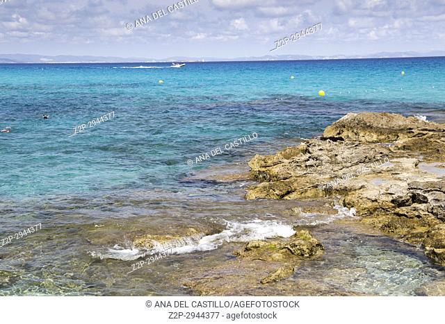 Formentera island in Balearics Spain Seascape Calo de San Agusti
